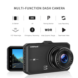 Campark DC10 Dash Cam 4K UHD DVR Driving Recorder Camera