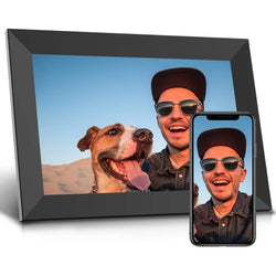 Jeemak F20 Digital Picture Frame 10.1 inch WiFi Photo Frame with HD IPS Touch Screen Portrait or Landscape Stand Auto-Rotate