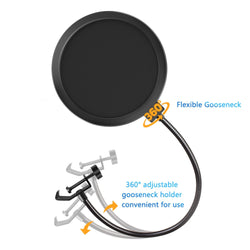 Jeemak PC11 Microphone Pop Filter,  Swivel Double Layer Sound Shield Guard for Blue Yeti and Any other Mic