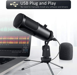 Jeemak PC21 USB Microphone for computer for Laptop Gaming Conference Chattings