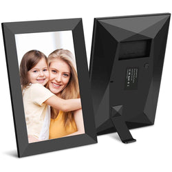 Jeemak F15 Digital Picture Frame 8 inch WiFi Photo Frame HD IPS Touch Screen Portrait or Landscape Stand Auto-Rotate Share Photos and Videos via App at Anytime and Anywhere
