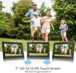 Jeemak F5 Digital Picture Frame 7 inch WiFi Photo Frame with IPS Touch Screen