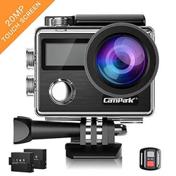 Campark Action Camera 4K 20MP Touch Screen Waterproof X20