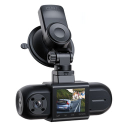 Campark DC35 Dual 1080P Dash Cam w/GPS,  Front and Inside Car Camera w/Infrared Night Vision
