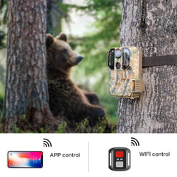 Campark T75 WiFi Trail Camera 20MP 1296P Remote Control Hunting Game Camera