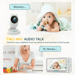 Campark BM40 Smart Night Vision 4.3 inch Split Screen Video Baby Monitor