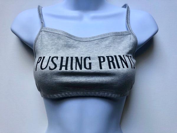 Women's Sports Bra- Grey and Black