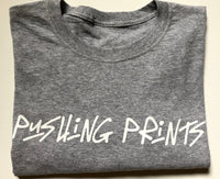Pushing Prints Tee- Grey and White