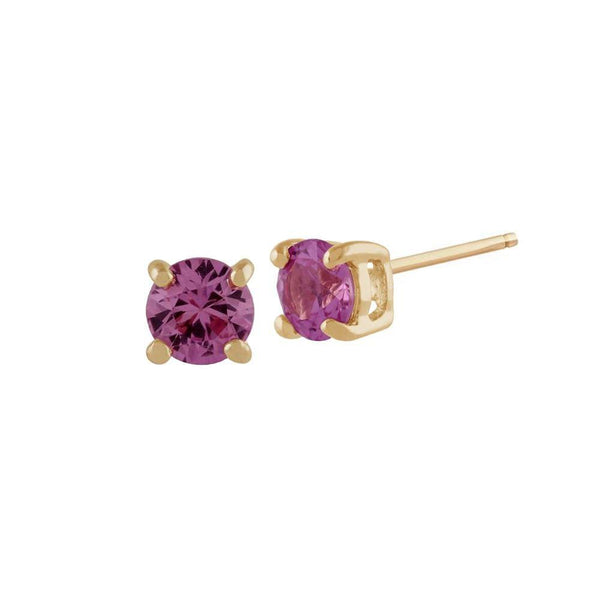 Classic Pink Sapphire Stud Earrings Image 1
