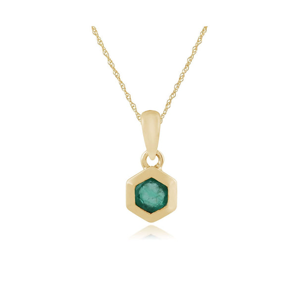 Emerald Hexagon Pendant Image 1