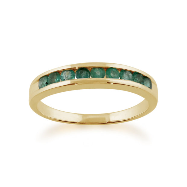 Channel Set Emerald Ring Image 1