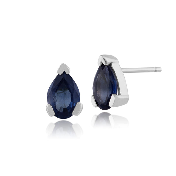 Classic Light Blue Sapphire Stud Earrings Image 1