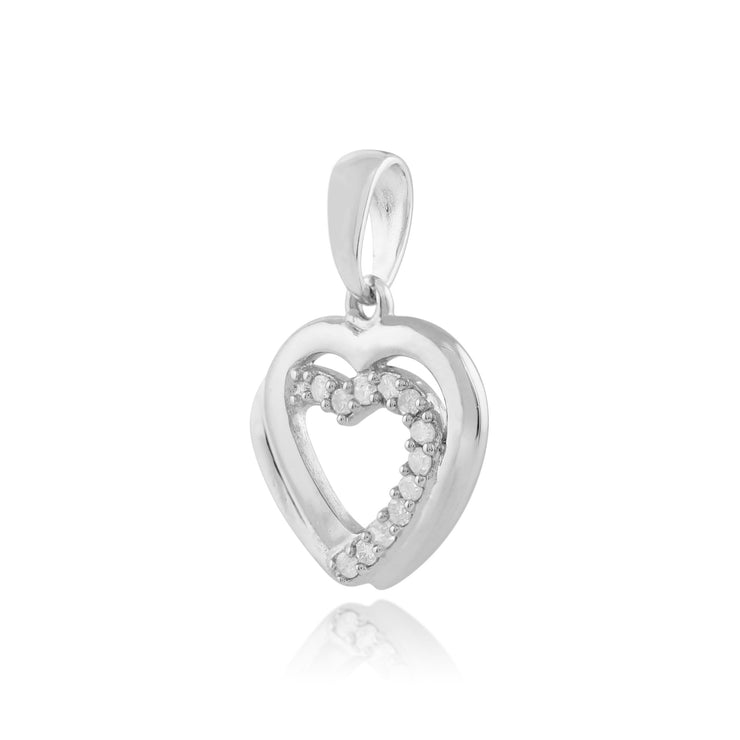 Classic Diamond Heart Pendant on Chain Image 2