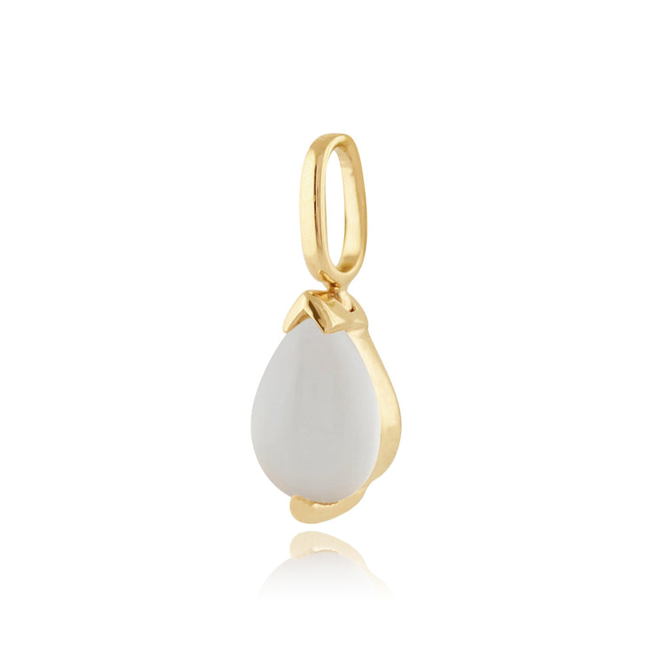 Classic Moonstone Pendant on Chain Image 2