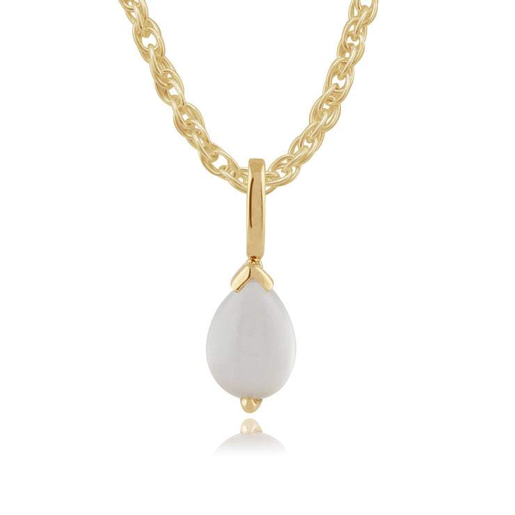 Classic Moonstone Pendant on Chain Image 1