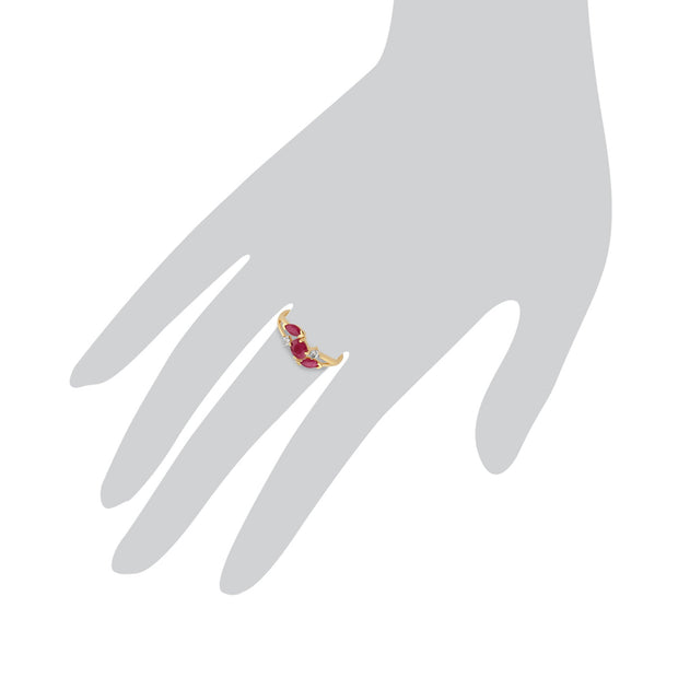 Ruby Three Stone Ring Image 3