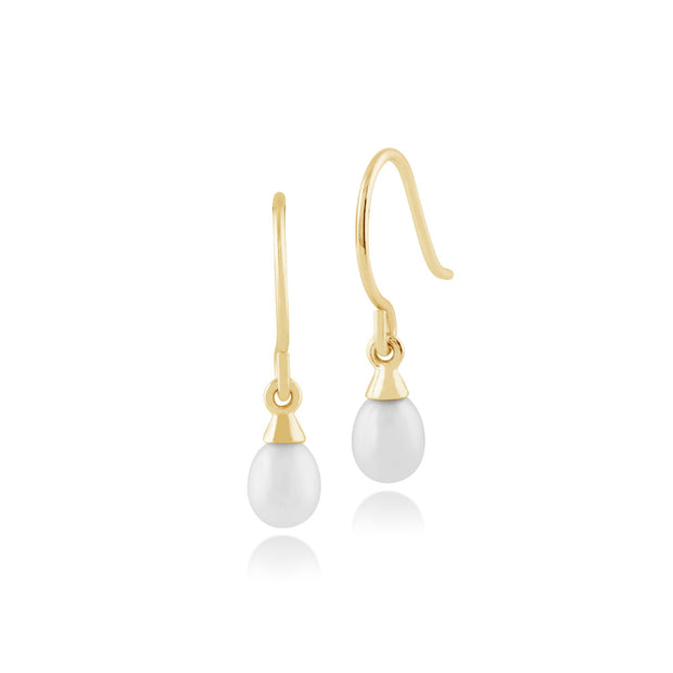 Classic Freshwater Pearl Drop Earrings 1