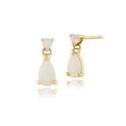 Classic Opal Drop Earrings Image 1