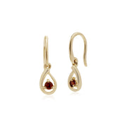 Single Garnet Drop Earrings Image 1