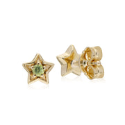 Classic Peridot Star Stud Earrings Image 2