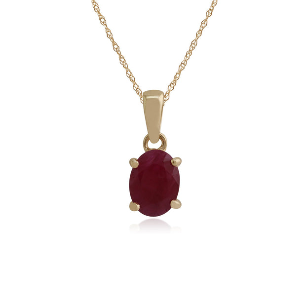 Classic Oval Ruby Pendant Image 1