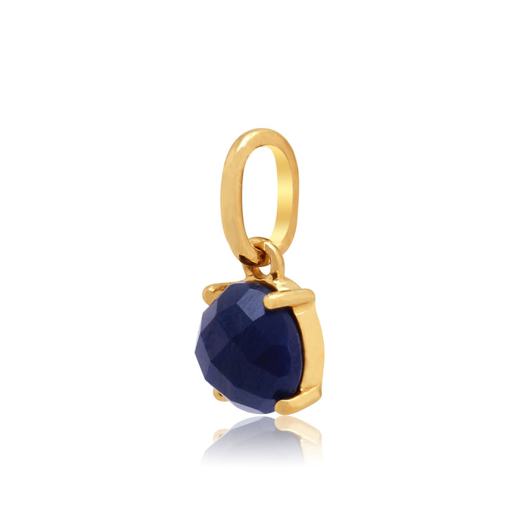 Classic Sapphire Checkerboard Pendant on Chain Image 2