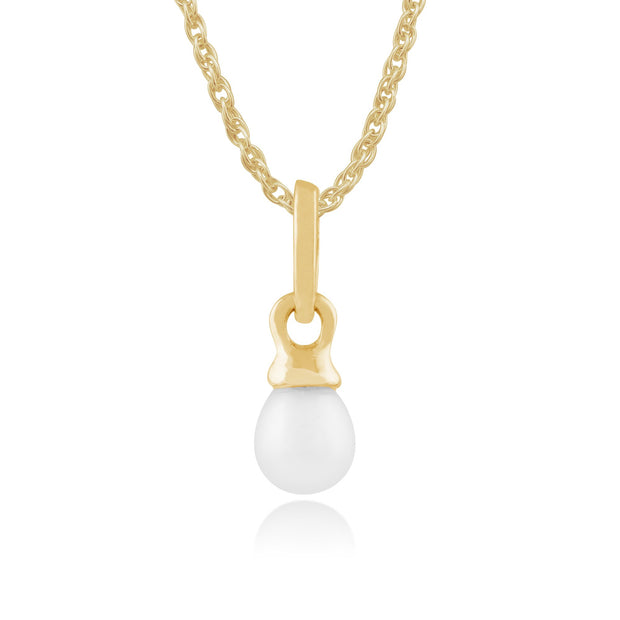 Classic Freshwater Pearl Pendant on Chain Image 1