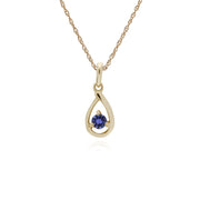 Single Tanzanite Tear Drop Pendant Image 1