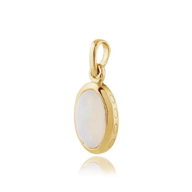 Classic Oval Opal Single Stone Bezel Drop Earrings & Pendant Set Image 5