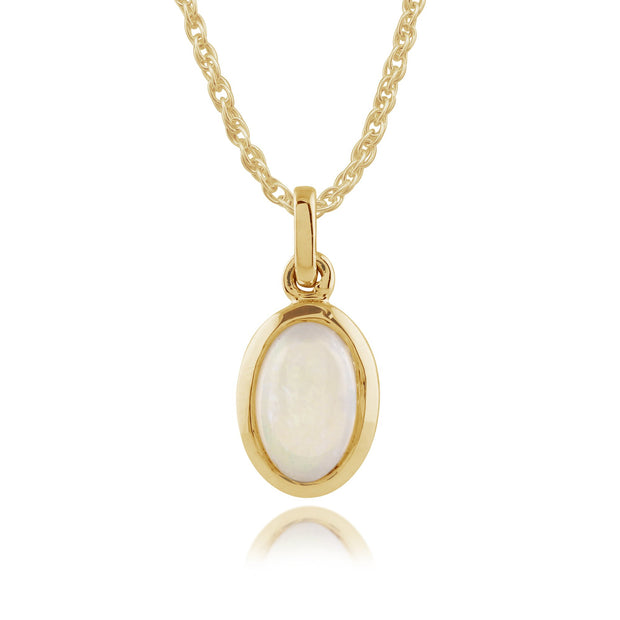 Classic Opal Pendant on Chain Image 1