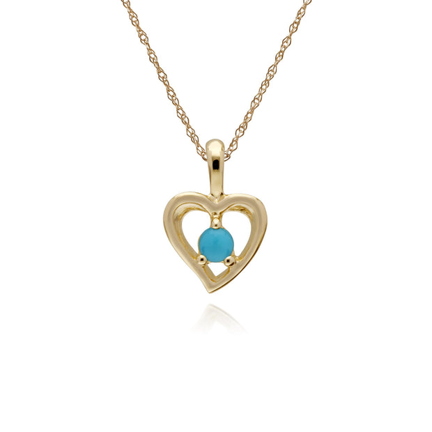 Classic Turquoise Heart Pendant Image 1