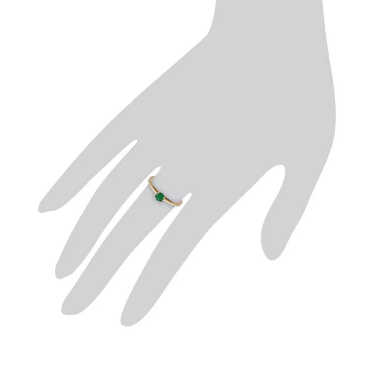 Gold Emerald Ring Image 3