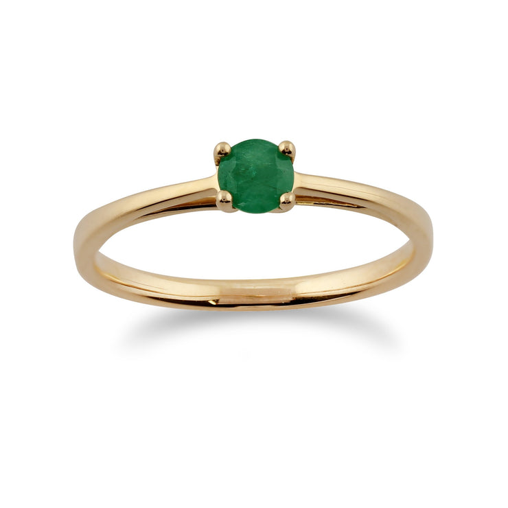 Gold Emerald Ring Image 1