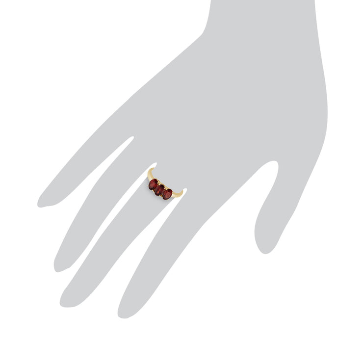 Garnet Trilogy Ring Image 3