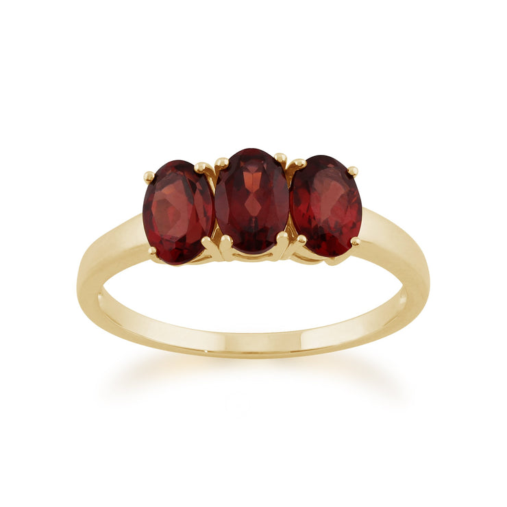 Garnet Trilogy Ring Image 1