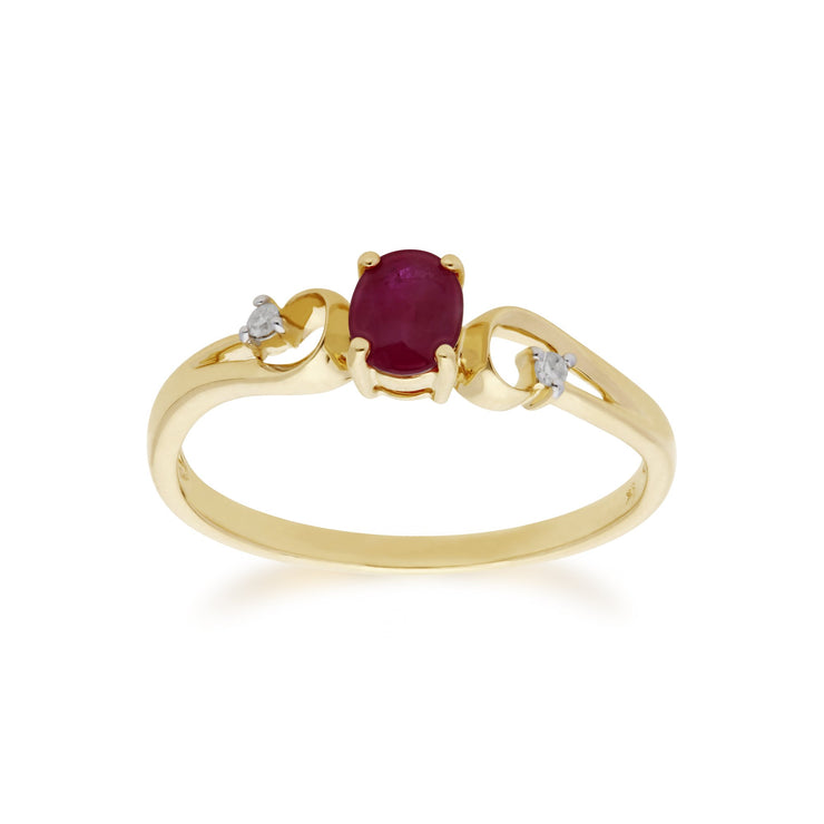 Ruby and Diamond Dress Ring Image 1