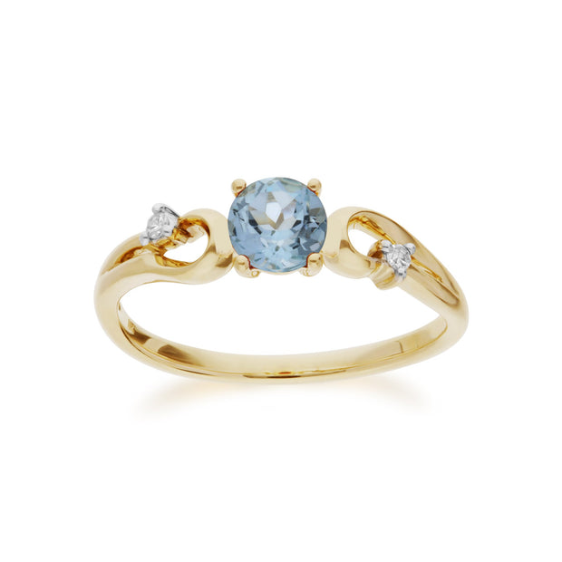 Blue Topaz and Diamond Dress Ring Image 1