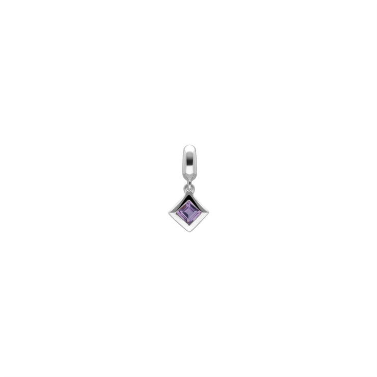 Achievement 'Climber Stone' Sterling Silver Pink Amethyst Charm