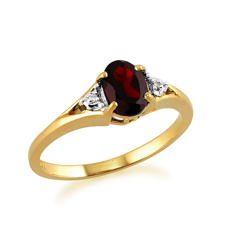 Garnet and Diamond Ring Image 2