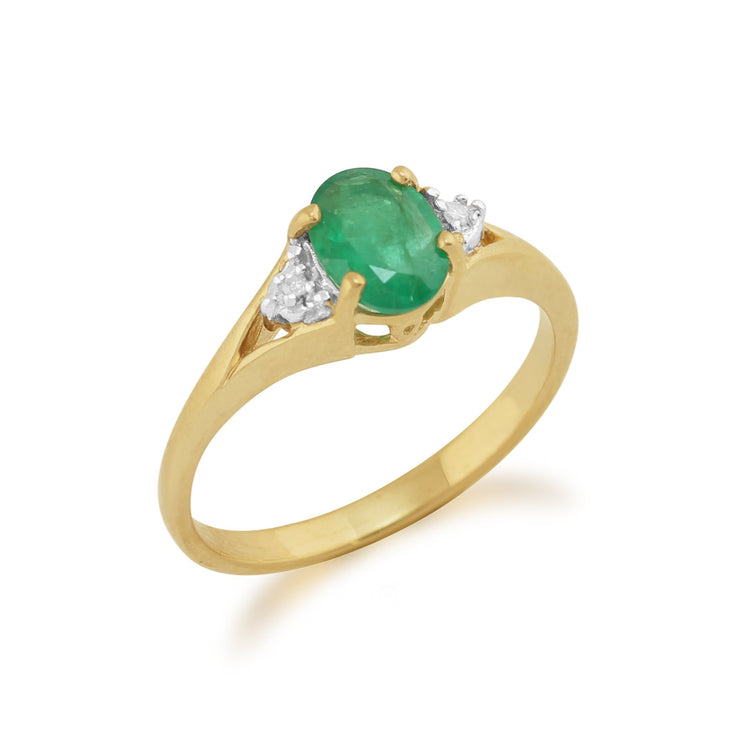 Emerald and Diamond Ring Image 2