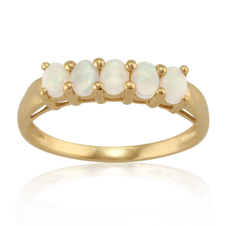 Opal Five Stone Ring Image 1
