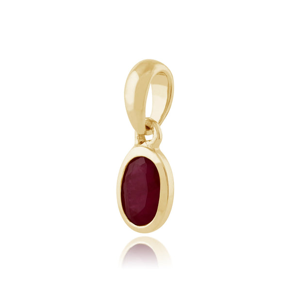 Classic Ruby Pendant on Chain Image 2