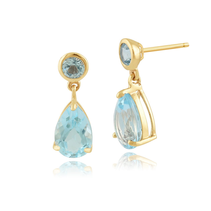 Classic Blue Topaz Drop Earrings Image 1