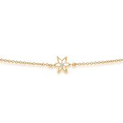 Yellow Gold Diamond Spring Starflower Bracelet Image 1