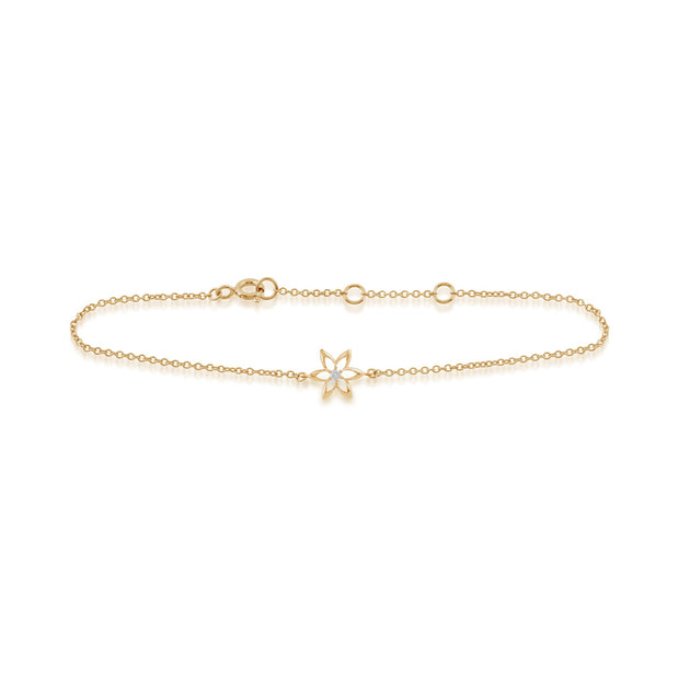 Yellow Gold Diamond Spring Starflower Bracelet Image 2