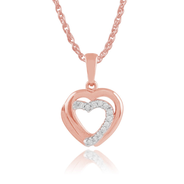 Classic Diamond Heart Pendant on Chain Image 1