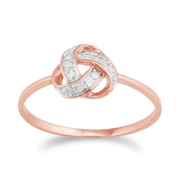 Diamond Knot Ring Image 1