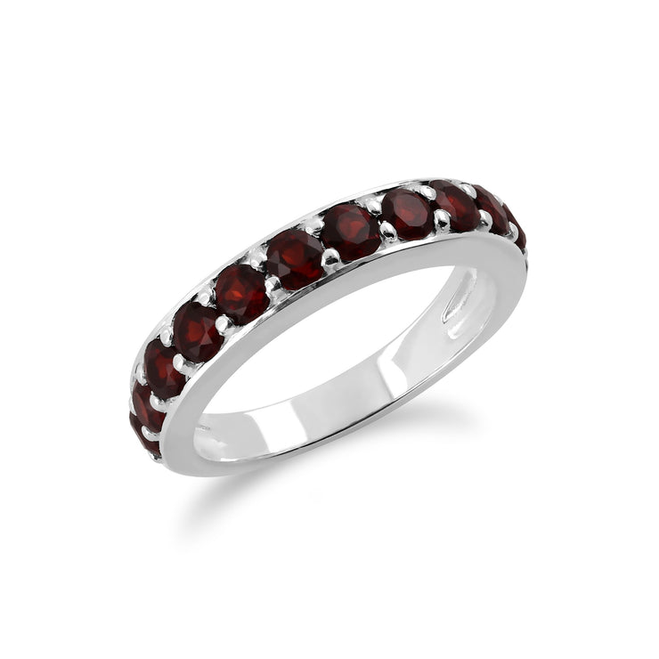 Garnet Half Eternity Ring Image 2