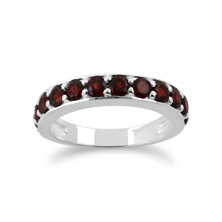 Garnet Half Eternity Ring Image 1