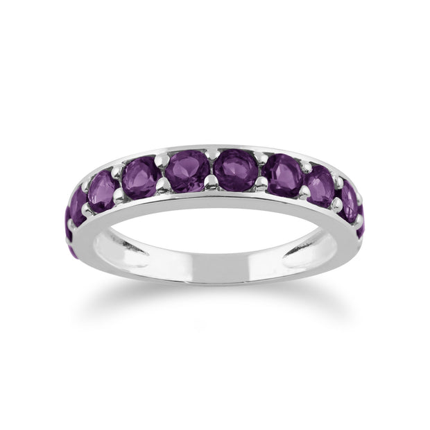 Amethyst Half Eternity Ring Image 1